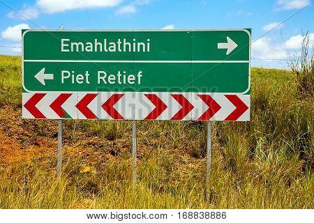 According to Emahlathini or Piet Retief ?