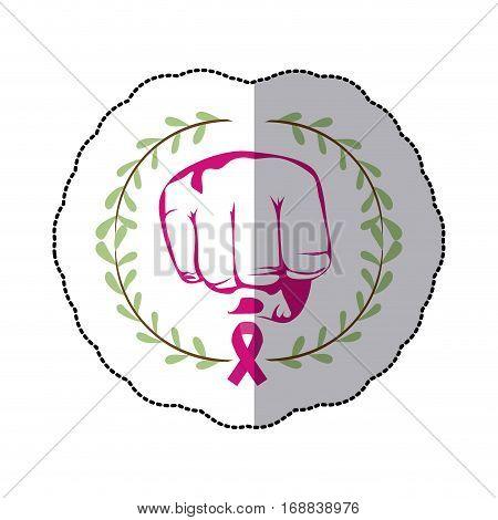 Breast cancer campaign icon vector illustration graphic design