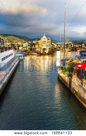 Entrance to the Haven of Knysna South Africa
