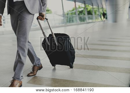 Businessmen Luggage Business Trip Travel