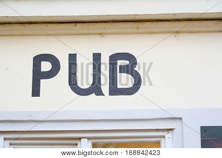 Prague, Czechia - November, 21, 2016: cafe sign board in Prague, Czechia