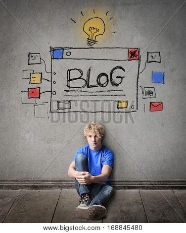 Blonde thinking about wriring a blog