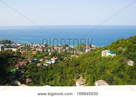 Gagra from a height, the streets of the city, Abkhazia
