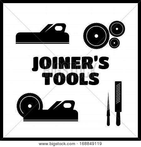 A set of logos emblems of joiner's tools vector