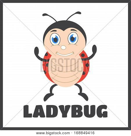 Cute ladybug cartoon vector. Ladybug vector illustration