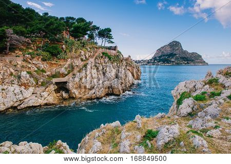 Gulf between rocks, Mediterranean Turkey, picturesque landscape