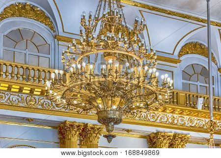 Armorial Hall, Winter Palace, Hermitage Museum, St. Petersburg, Russia