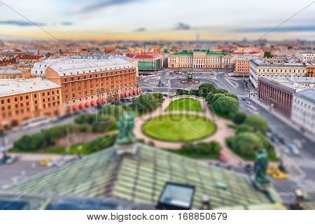 Panoramic View Over St. Petersburg, Russia, From St. Isaac's Cathedral