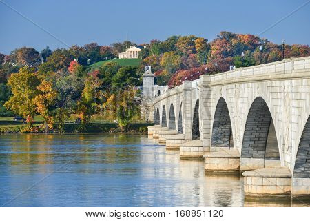 Washington DC in Autumn - Arlington Memorial Bridge