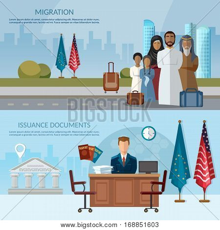 Issuance of documents for immigrant migrants in USA and Europe issue of visas passports documents