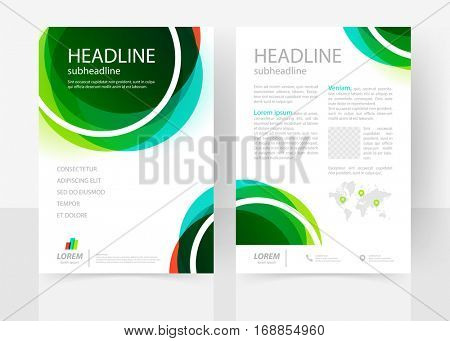 Vector business template for flyer, catalog, report, brochure. Abstract clean geometric design. EPS 10. A4