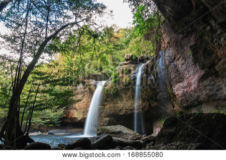 Waterfall Haew suwat Khao Yai National Park Thailand