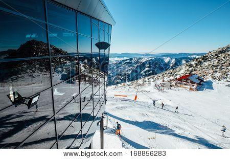 Modern ski areal in Tatry Mountain .