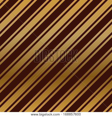 Seamless dark red wallpaper with diagonal gold stripes vector background.