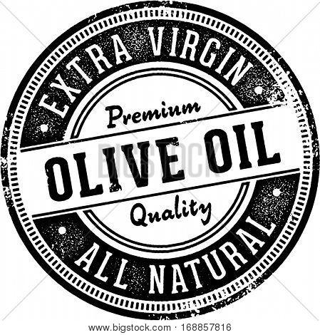 Vintage Olive Oil Stamp Design