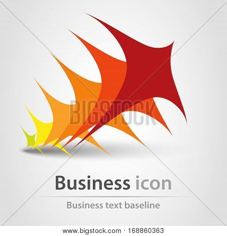Originally created colorful stacked business icon concept