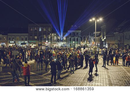Protests Against Controversial Low, Brasov, Romania