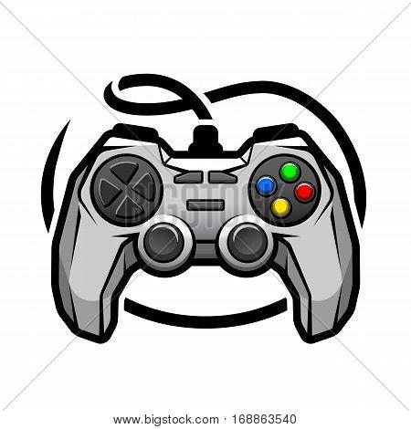 Gamepad logo Video game symbol. Vector illustration.