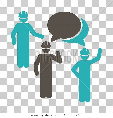 Engineer Persons Forum icon. Vector illustration style is flat iconic bicolor symbol grey and cyan colors transparent background. Designed for web and software interfaces.