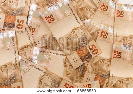 Brazilian money background