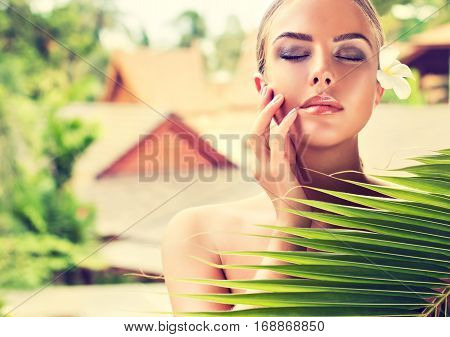 Body care. Spa body massage treatment. Woman having massage in the beauty  salon