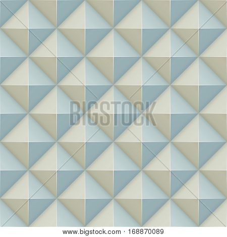 Pyramid relief wall surface seamless pattern.