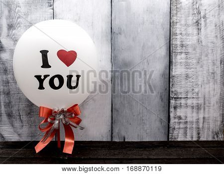Valentines day love and sweetest concept, balloon I love you