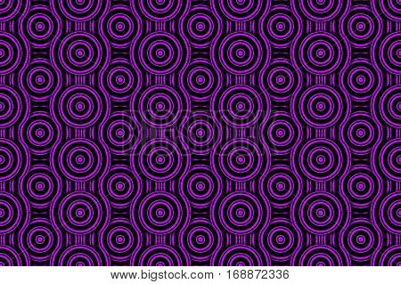 Illustration of several purple and black concentric circles