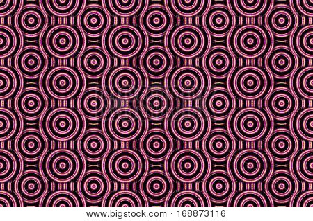 Illustration of several purple and orange concentric circles