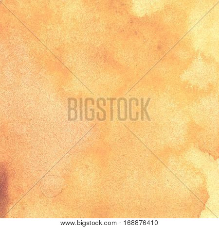 watercolor texture transparent light beige brown ocher pink shades spots. watercolor abstract background spot blur fill