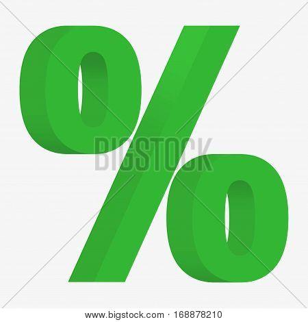 3D Figure Percent Sign