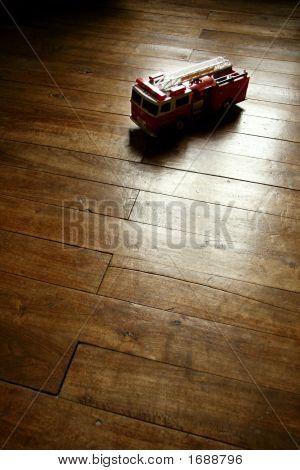 Vintage Firetruck Model Toy