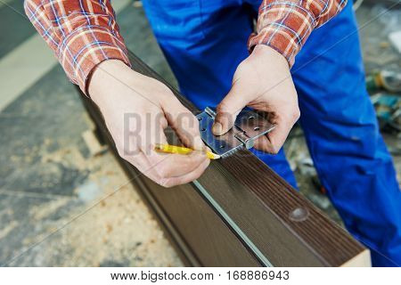 door hinge installation