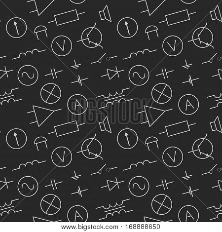 vector illustration seamless pattern with electric elements