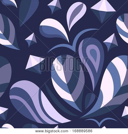 Vector seamless abstract pattern with natural elements. Floral concept. Decorative background. Template for print, banner, logo, label, tag, fabric, packaging cover poster Flat design