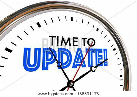 Time to Update Clock New Model Software 3d Illustration