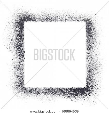 Square stencil frame isolated on the white background.