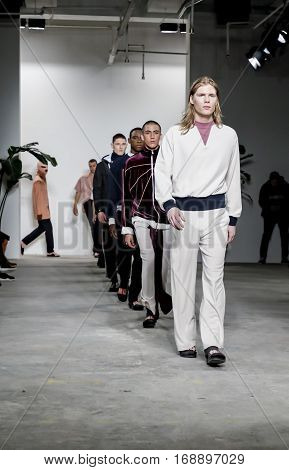 New York Fashion Week: Men's Palmiers Du Mal Fw 2017 Collection