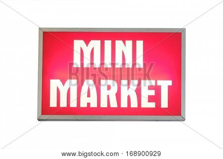 Shop signboard isolated