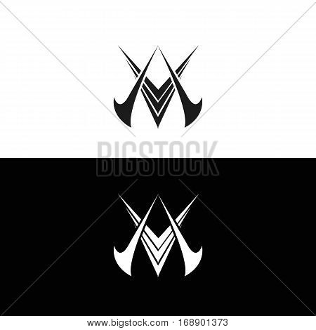 Alpha Victory Creative Tribal Abstract Logo. Isolated.