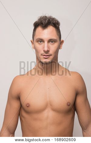 Young Man, Upper Body, Model Polaroid Snapshot