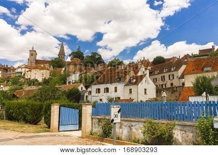 Picturesque medieval town of Semur en Auxois, Burgundy, France