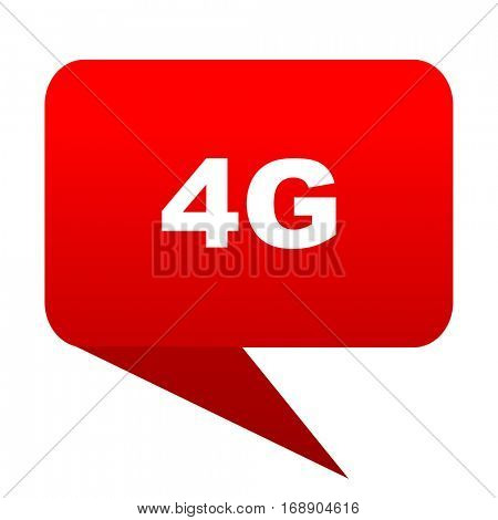 4g bubble red icon