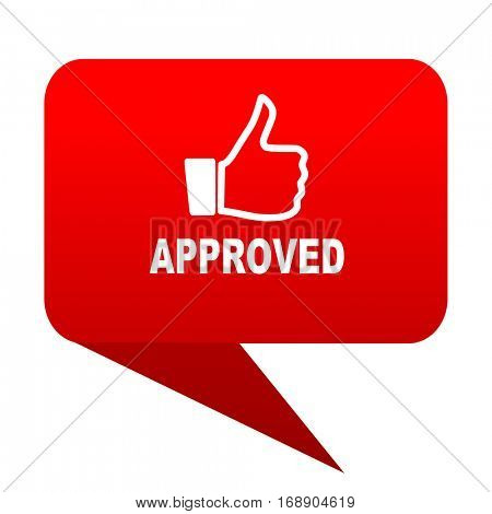 approved bubble red icon