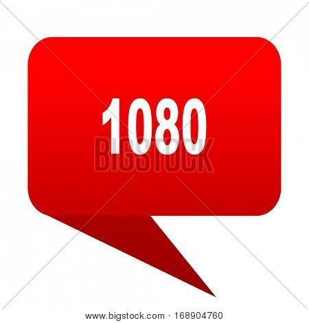 1080 bubble red icon