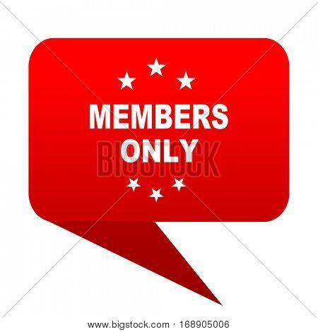 members only bubble red icon