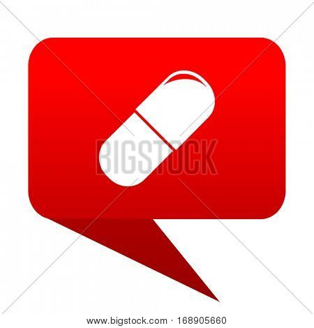 drugs bubble red icon