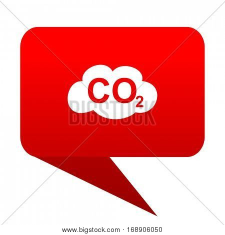 carbon dioxide bubble red icon