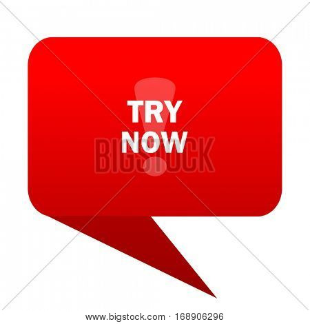 try now bubble red icon