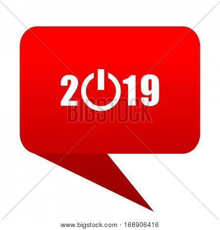 new year 2019 bubble red icon